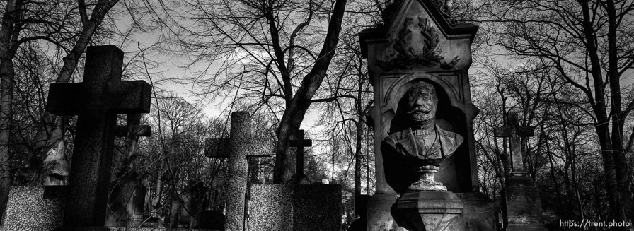 Graves in old cemetery.
