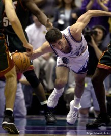 John Stockton at Jazz vs. Sonics, game 5, 1st round NBA playoffs. Jazz won.