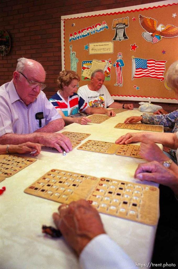 playing Bingo at the Midvale Senior Center.