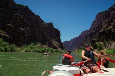 Mary Engels on a Native American river trip through Lodore Canyon and Dinosaur National Monument.