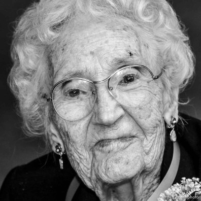 Gladys Mallory, 100, Sandy. The 16th annual celebration of Utah's Centenarians at the Governor's Mansion. ; 05.29.2002, 9:44:48 AM