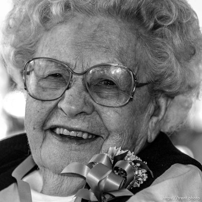 Marva Hansen, 103, Delta. The 16th annual celebration of Utah's Centenarians at the Governor's Mansion. ; 05.29.2002, 9:52:48 AM