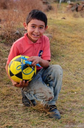 boy with soccer ball. 12.04.2004