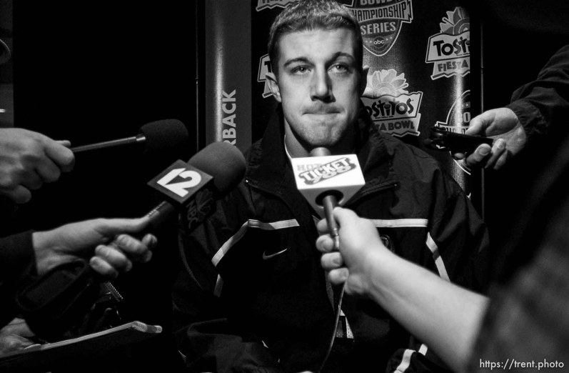 Utah QB Alex Smith, press conference, fiesta bowl.