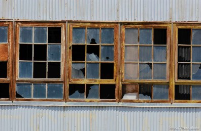 broken windows. The Enola Gay Hangar, Wendover Airport.