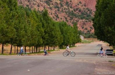Children riding bikes, Colorado City