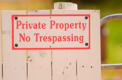 no trespassing private property sign, Colorado City/Hildale.
