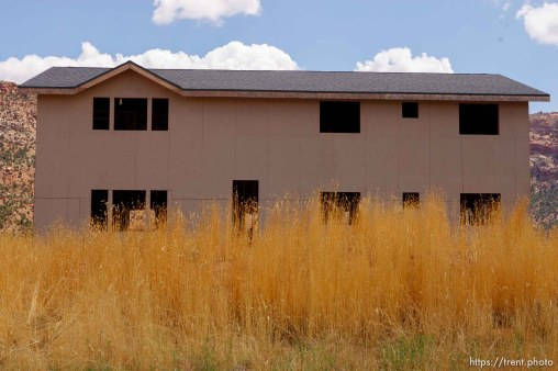 home under construction. Hildale, Colorado City.