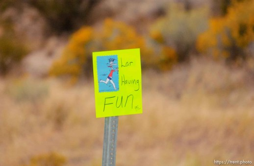 signs of support, St. George Marathon