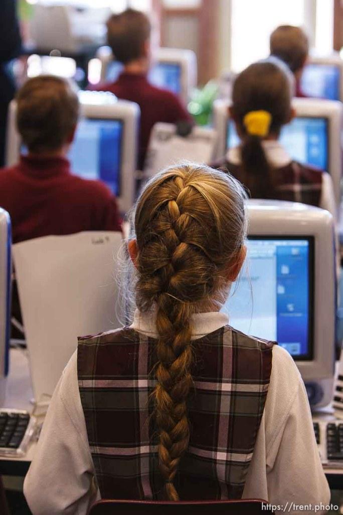 computer lab, Masada Charter School