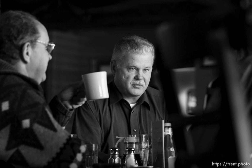 Jethro Barlow, Gary Engels, at breakfast