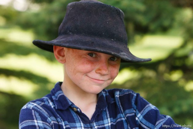 Polygamist Winston Blackmore in Bountiful, British Columbia. kids