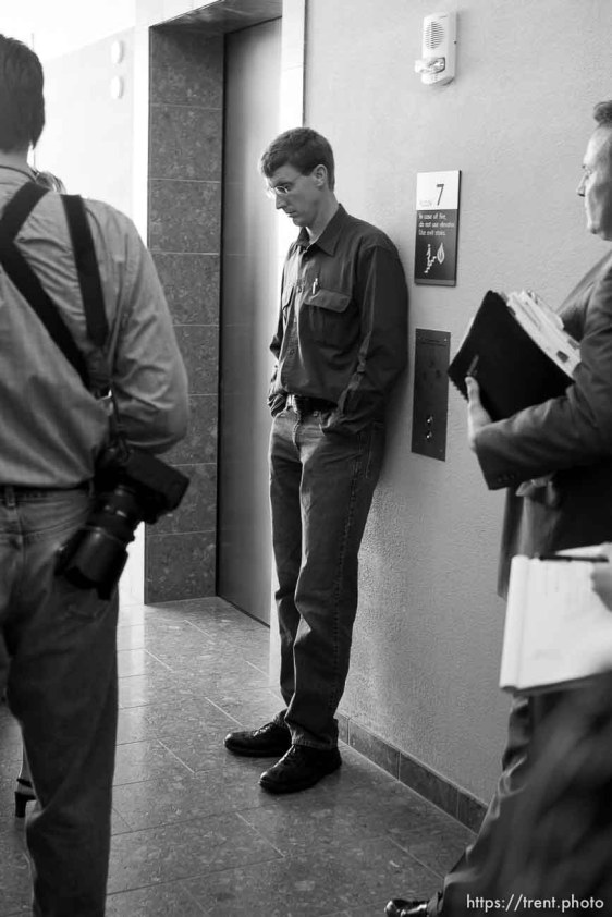 Nephi Jeffs leaving the hearing.