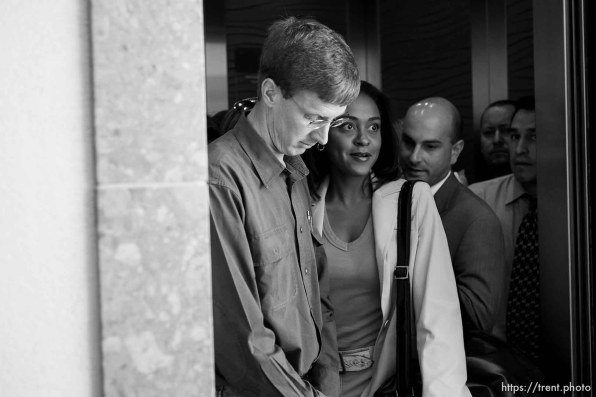 Nephi Jeffs leaving the hearing