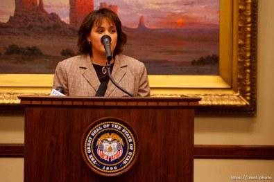 Utah Governor Jon Huntsman press conference to sign new tax bill