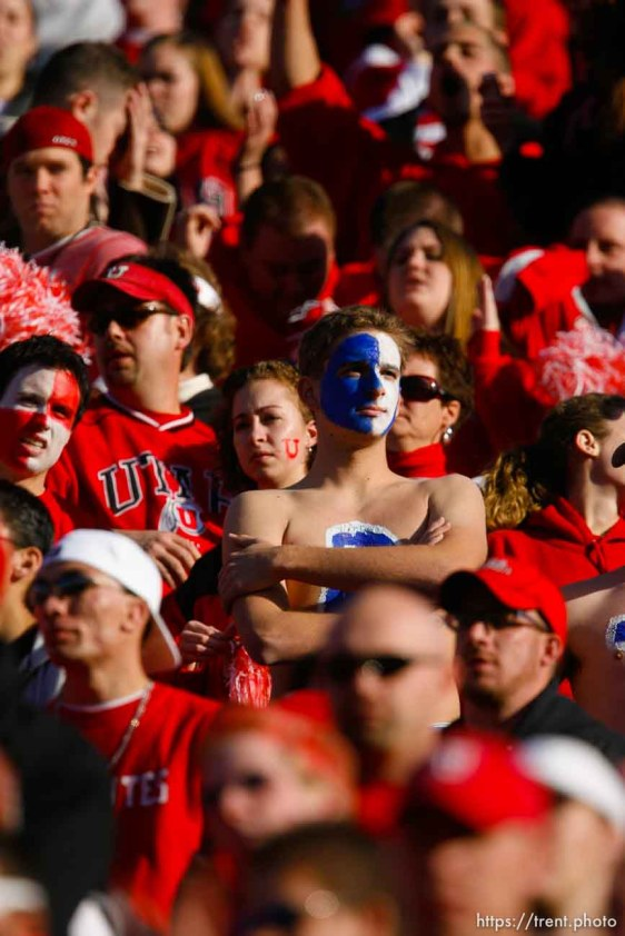 fans. BYU wins with no time on the clock. Salt Lake City - Utah vs. BYU college football at Rice-Eccles Stadium.