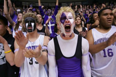 riverton fans. Ogden - Lone Peak vs. Riverton High School boys basketball, 5A State Basketball Championship Game at the Dee Events Center Wednesday.