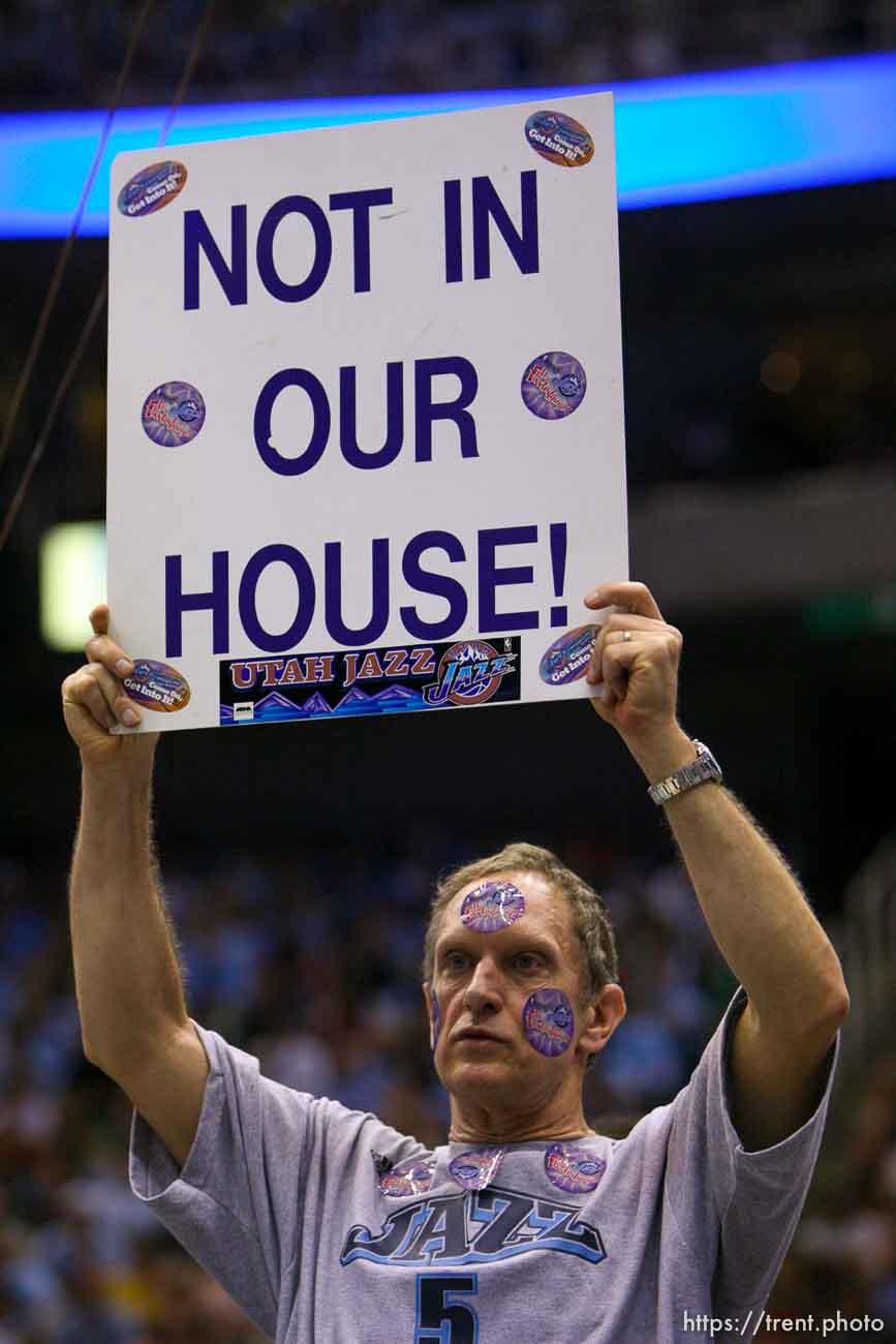 dr. richard anderson, fan. Salt Lake City - Utah Jazz vs. San Antonio Spurs, Western Conference Finals game four at EnergySolutions Arena. 5.28.2007