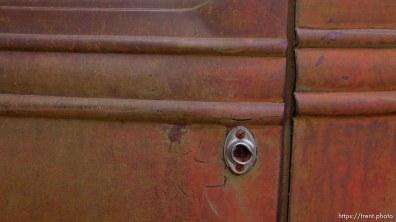 rusty international truck detail at cottonwood park