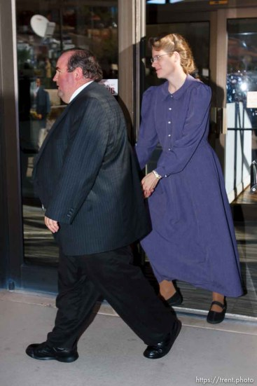 FLDS followers of Warren Jeffs. St. George - Warren Jeffs trial. The polygamous sect leader was charged with two counts of rape as an accomplice stemming from a marriage he officiated involving a 14-year-old girl and her 19-year-old cousin.