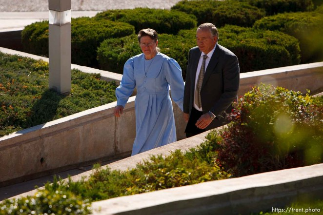 Lamar Johnson and unidentified woman. St. George - Polygamous sect leader Warren Jeffs was sentenced Tuesday, November 20, 2007 after being found guilty on two counts of rape as an accomplice, in St. George, Utah. Jeffs, head of the Fundamentalist Church of Jesus Christ of Latter Day Saints, was found guilty of two counts of rape as an accomplice for allegedly coercing the marriage and rape of a 14-year-old follower to her 19-year-old cousin in 2001. ; 11.20.2007