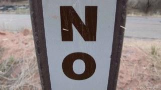 no sign, moab rim trail