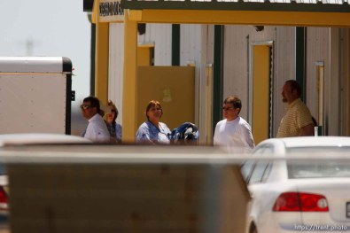 """Eldorado - civic center during raid on the FLDS YFZ """"Yearning for Zion"""" compound outside of Eldorado, Texas, Saturday, April 5, 2008. CPS"""