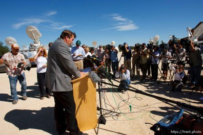 Eldorado - FLDS spokesman Willie Jessop read a statement from the FLDS Church at the YFZ ranch Monday, June 2, 2008. The statement said the sect would not allow underage marriages.. Monday June 2, 2008.