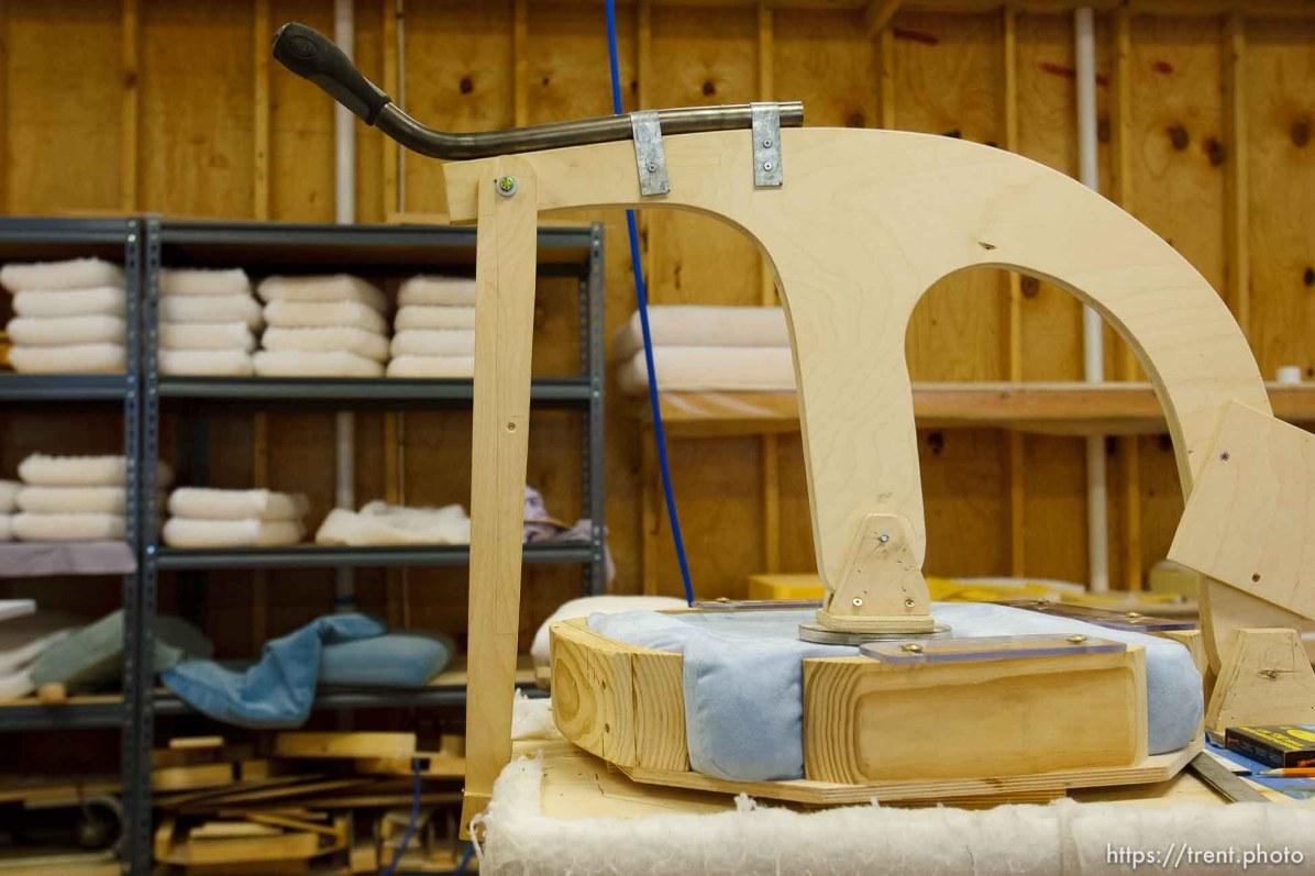 Eldorado - Tour of YFZ Ranch Thursday, June 26, 2008. upholstery shop