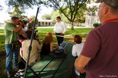 Eldorado - at the Schleicher County Courthouse Tuesday, July 22, 2008, where a grand jury met to hear evidence of possible crimes involving FLDS church members from the YFZ ranch. willie jessop, brian connelly
