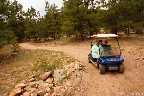 Westcliffe - . Monday, July 28, 2008. out on a walk, via golf cart