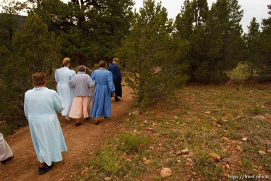 Westcliffe - . Monday, July 28, 2008. women on walk