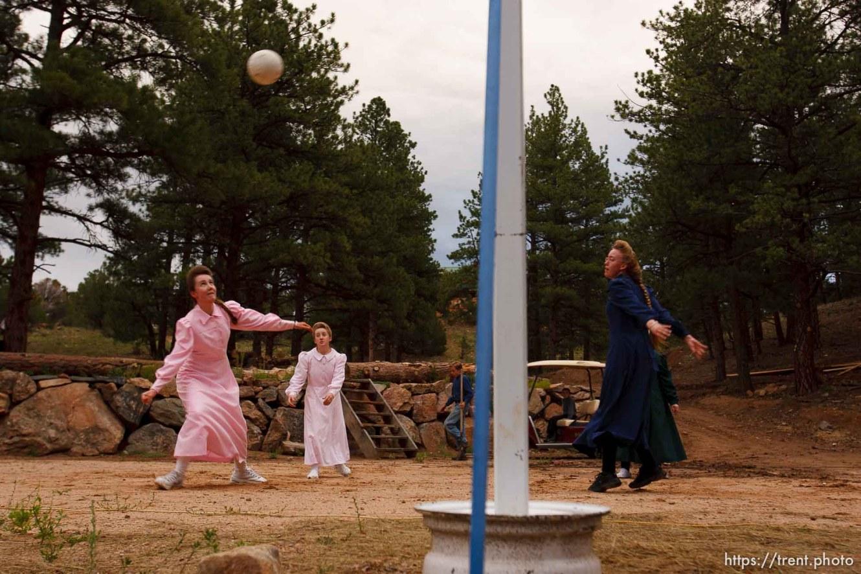 Westcliffe - . Monday, July 28, 2008. girls playing volleyball