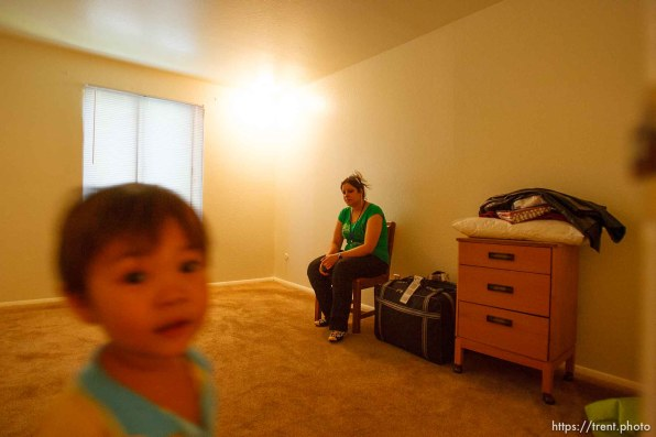 Holladay - Newly-arrived Iraqi refugee Nada Shammar in her Holladay apartment Tuesday August 26, 2008.