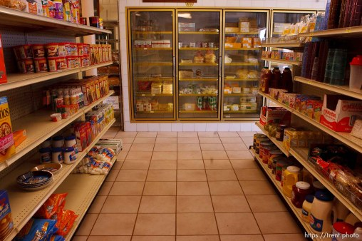 Colorado City - Cheese, bread, groceries at the community dairy store, Friday October 24, 2008.