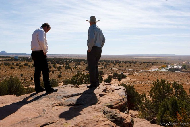 Colorado City - Willie Jessop and Dan Barlow on Berry Knoll, Friday October 24, 2008.
