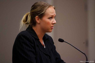 Salt Lake City - hearing held in the Matheson Courthouse Wednesday, July 29, 2009 to decide on the sale of the Berry Knoll property in the United Effort Plan (UEP) land trust. geneve hainline, genevive