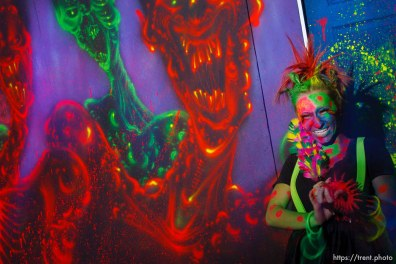 Brooke Williams is Bubble Girl. Nightmare Mansion is a brand new haunted house owned by the Castle of Chaos. Nightmare Mansion is home to four levels of fear, each progressively scarier than the last. The first show, Nightmare in 3D, consists of 3D art painted by nationally renowned artist, Stuart Smith. 3D glasses will be provided, this is the only Smith show in Utah. If you dare to go further, the next show takes you deeper into the nightmare and into the basement mortuary, for the Haunted Mansion. The third show, Taken Asylum is a little twisted, the patients are taking over the mental hospital. The last show, The Dungeon is just downright brutal, envision a prison housing only the worst criminal offenders.. Saturday, October 3 2009 in Taylorsville.