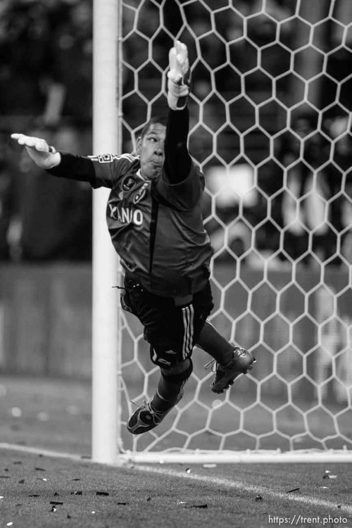 Trent Nelson | The Salt Lake Tribune Real Salt Lake vs. LA Galaxy, MLS Cup Sunday, November 22 2009 at Qwest Field in Seattle. Nick Rimando