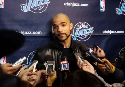 Trent Nelson | The Salt Lake Tribune Salt Lake City - Utah Jazz's Carlos Boozer. Members of the Utah Jazz cleaned out their lockers and talked about the season Tuesday, May 11, 2010 at EnergySolutions Arena.