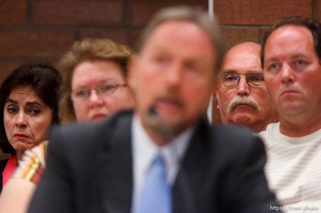 Trent Nelson | The Salt Lake Tribune Draper - Commutation hearing for death-row inmate Ronnie Lee Gardner Thursday, June 10, 2010, at the Utah State Prison. kathy potter, craig watson, as Craig Haney testifies
