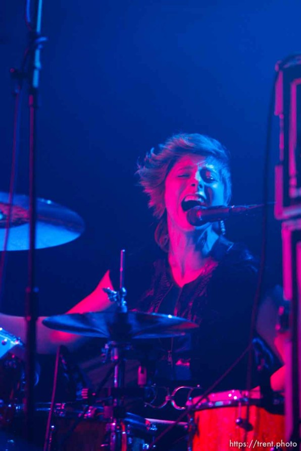Elaine Bradley, Neon Trees at In The Venue in Salt Lake City, Utah, Friday, April 8, 2011.