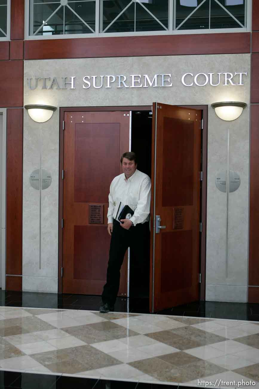 Trent Nelson | The Salt Lake Tribune Willie Jessop walks out of the Utah Supreme Court, after arguments were heard in Salt Lake City, Utah, Tuesday, April 12, 2011, on cases involving the FLDS Church's United Effort Plan (UEP) land trust.