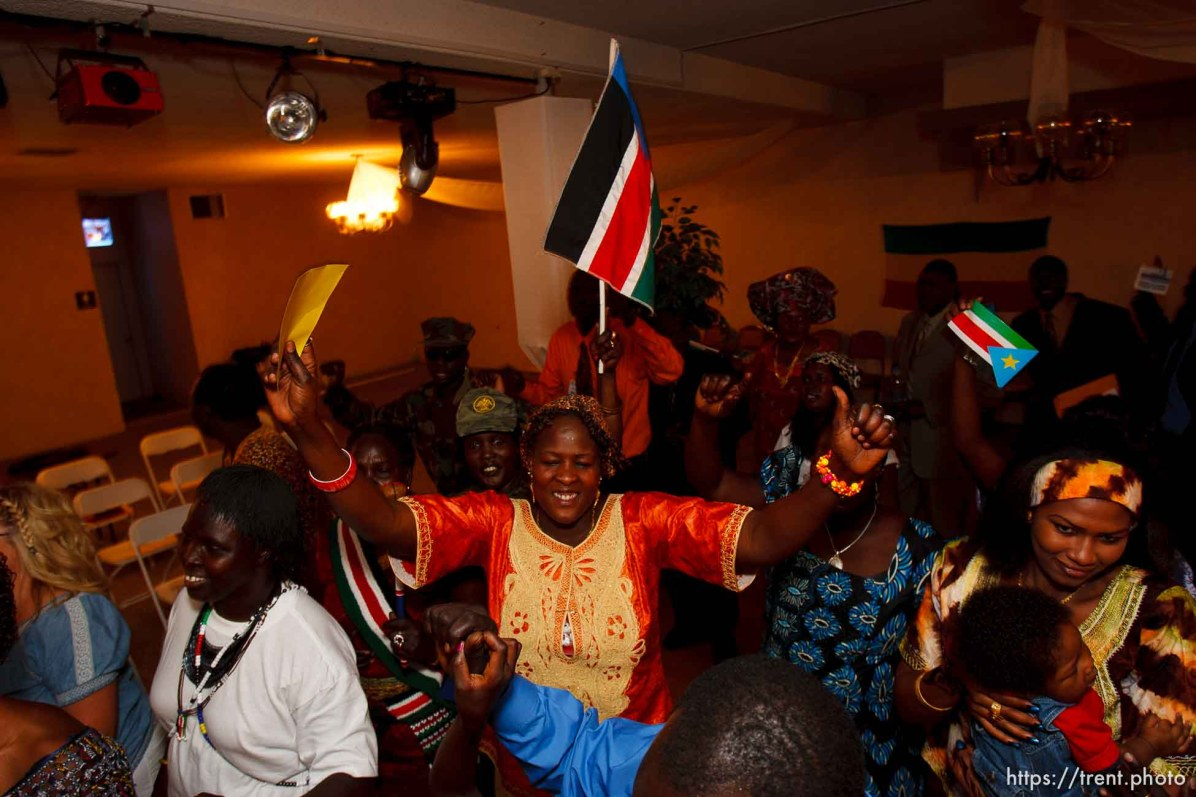 Trent Nelson | The Salt Lake Tribune Nyayien Tarjak, center, among dancers at the South Sudan Independence celebration in Salt Lake City, Utah, Saturday, July 9, 2011