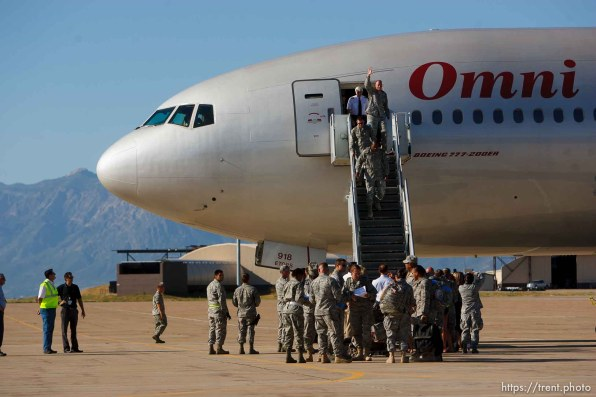 Trent Nelson | The Salt Lake Tribune The 729th Air Control Squadron returned to Hill Air Force Base in Layton, Utah, after six months in Afghanistan Wednesday, July 20, 2011.
