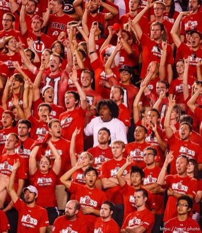 Trent Nelson | The Salt Lake Tribune . Utah vs. Montana State in Salt Lake City, Utah, Thursday, September 1, 2011. fans,