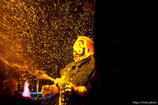 Trent Nelson | The Salt Lake Tribune Insane Clown Posse performs at The Great Salt Air (Saltair) Thursday, October 1 2009 west of Salt Lake City. violent j,