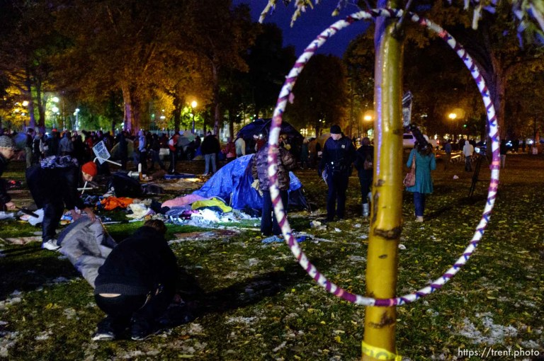 SLC Police Clear Pioneer Park of Occupy