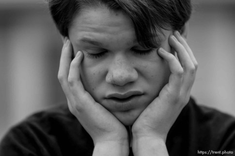 Trent Nelson | The Salt Lake Tribune Garrett Lines is a teenager with autism who lives in a group home after his mother, Nikki Lines, turned him over to DCFS a few years ago. Lines was photographed in Murray, Utah, Thursday, September 6, 2012.