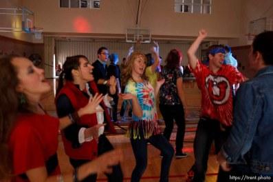 Trent Nelson   The Salt Lake Tribune Youth dancing at the Salt Lake University Institute of Religion, Friday November 16, 2012 in Salt Lake City.